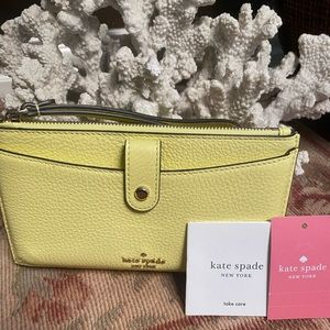 NWT Kate Spade Yellow Medium Phone Wristlet